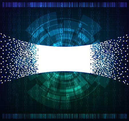 codigo binario: La tecnología moderna bandera de tema. Foto de archivo