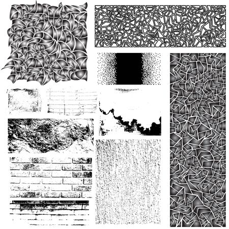 manually: Collection of creative manually drawn patterns and traced grungy vector textures