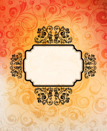 ornamented: Vintage style ornamented banner. eps10 vector.