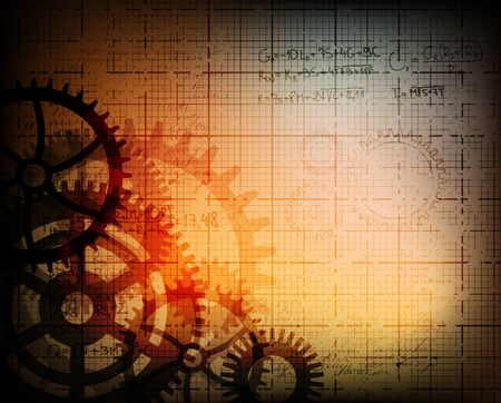 gears background: grungy technology theme background. eps10 vector illustration.