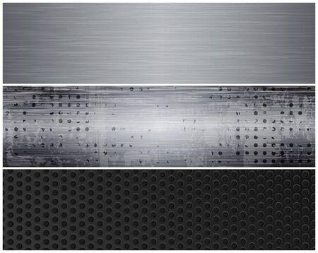 banderas de metal. eps10 vector Vectores