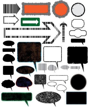 Colecci�n de diferentes elementos de dise�o vectorial.