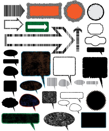 Collection of different design vector elements.