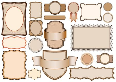 collection of retro style vector banners, labels, frames.  Vector