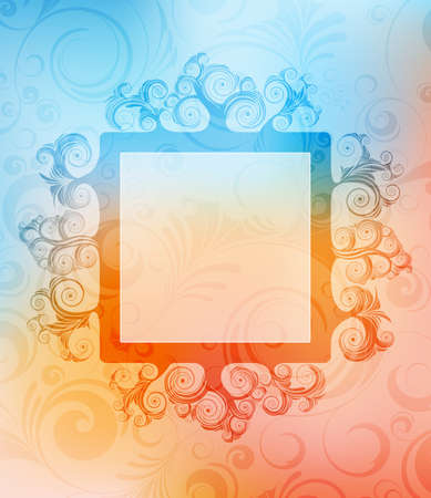ornamented: abstract ornamented background with frame. eps10 vector