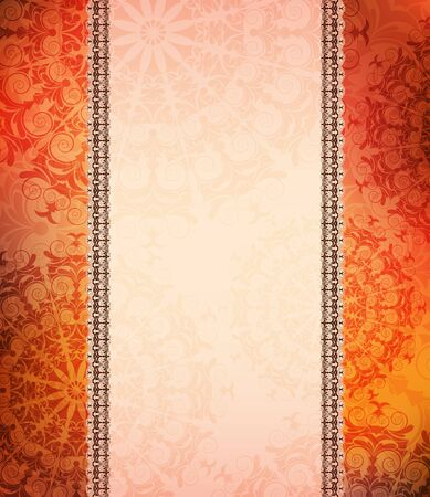 ornamented: Ornamented vector banner.