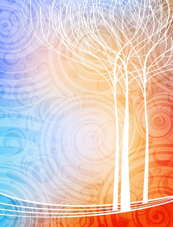 abstract design nature theme vector background.  Illustration