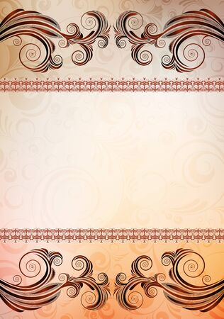 ornamented: abstract ornamented vector banner. eps10