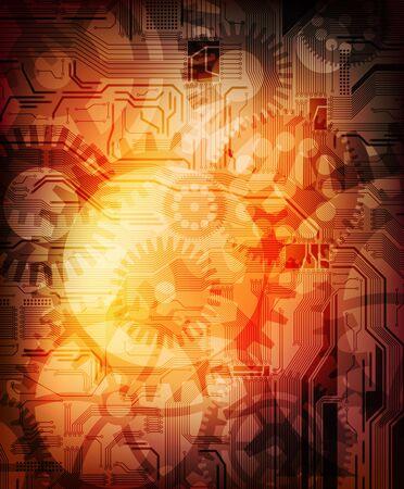 conceptual abstract design technology theme vector background.  Vector