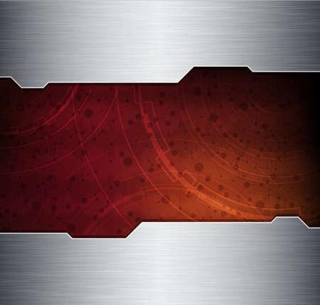 metal frame: abstract design vector banner.  Illustration