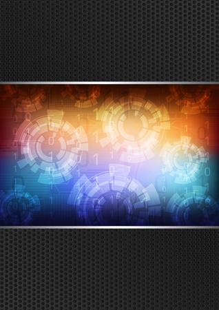technology theme background  Illustration