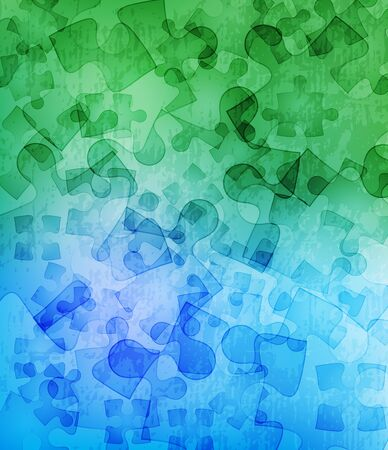grungy background with puzzle pieces  Vector