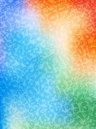 numbers background: colorful background with numbers