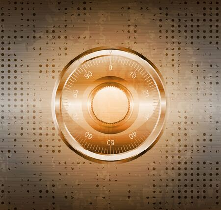 safe lock: grungy background with safe lock  eps10 vector