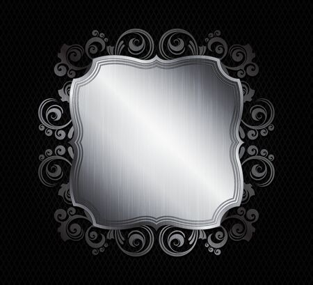 ornamented: ornamented metal frames  eps10 vector
