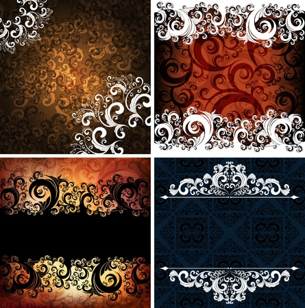 ornamented: set of abstract ornamented backgrounds, eps10 vector