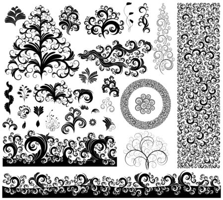 ornamented: collection of ornamented design elements