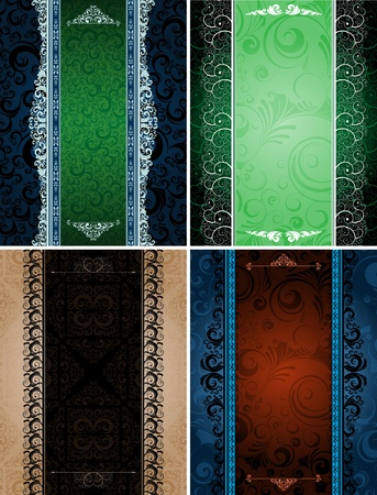ornamented: set of ornamented banners, eps8 format vector