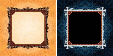 ornamented: ornamented design frames, eps8 format vector