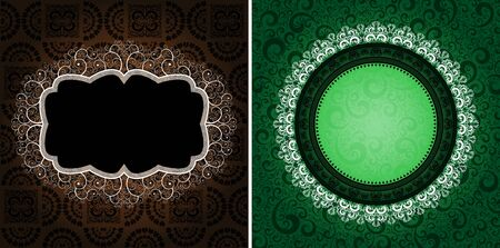 ornamented: ornamented vintage backgrounds, eps8 vector