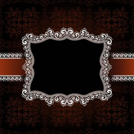 ornamented: creative design ornamented frame, eps8 format vector