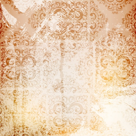 ornamented: grungy ornamented background, eps10 layered vector