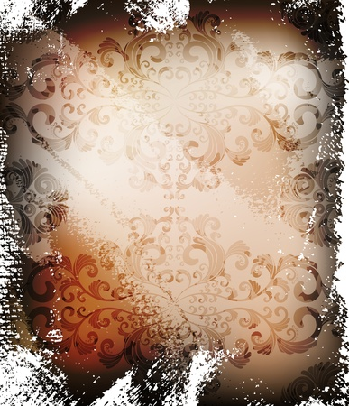 ornamented: abstract grungy ornamented vector background  eps10 layered file  Illustration