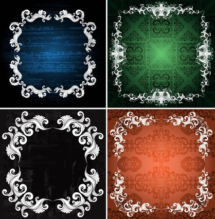 ornamented: set of ornamented backgrounds Illustration