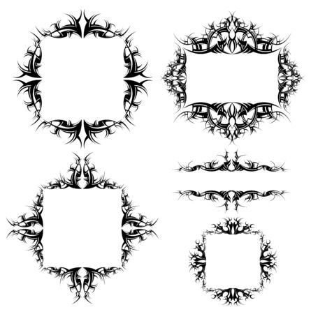 ornamented: ornamented frames collection Illustration