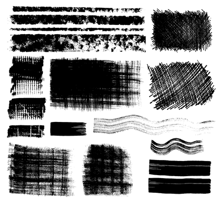 paint stroke: grungy design elements Illustration