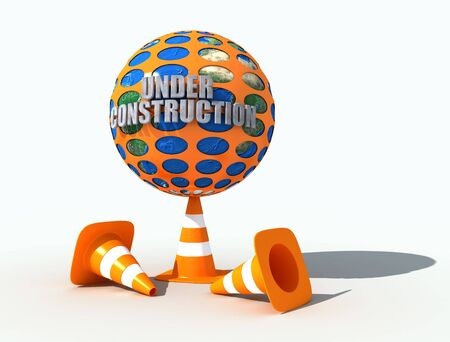 the earth under construction protected by a perforated plastic net Stock Photo - 3081035
