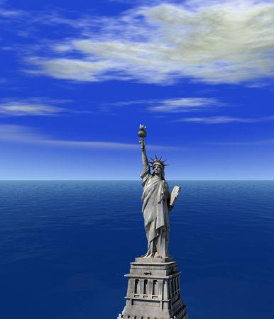 Statue of Liberty - digital art work photo