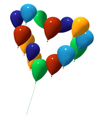 love ballons isolated photo