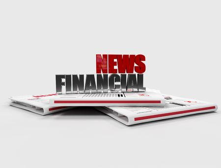 financial news logo on newspaper - digital artwork