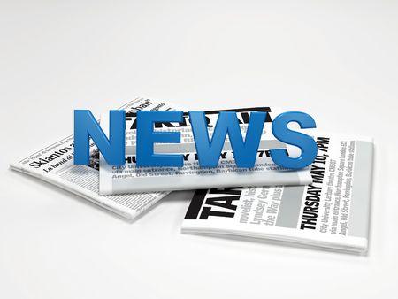 3d news on newspaper digital artwork Stock Photo - 3256363