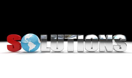 resolve: concept of global solutions - digital artwork isolated Stock Photo