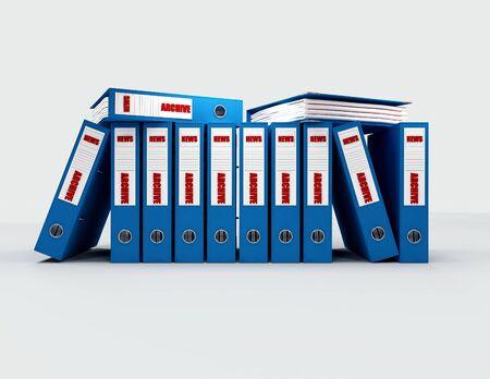 journalistic: file contenuti giornalistici in blu anello leganti