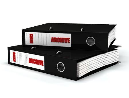 journalistic: file contenuti giornalistici in nero anello leganti
