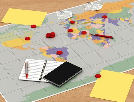 dayplanner: plain of job of a business reunion -digital artwork