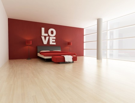 bedrooms: minimal bedroom in a big modern