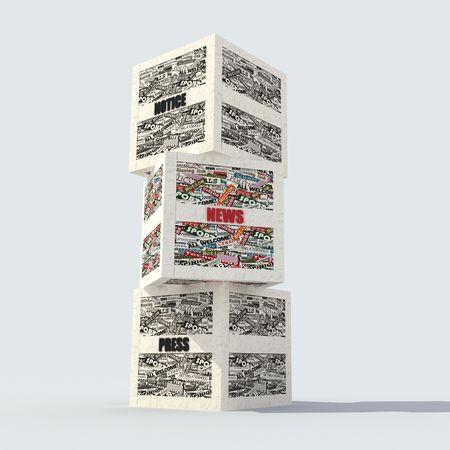 clippings: realizado con recortes de peri�dico