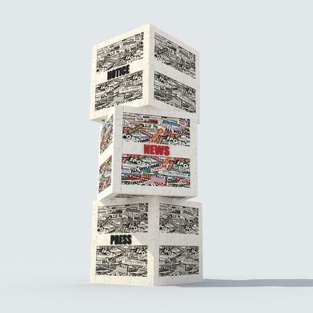 clippings: realized with clippings of newspaper