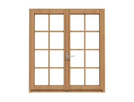 windows frame: wooden window isolated on white - rendering