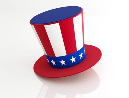 uncle sam hat: Uncle Sams Hat isolated on white - rendering