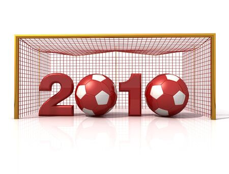 conceptual ,new year for the world of soccer -rendering photo