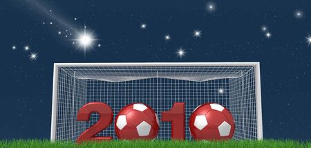 conceptual ,new year for the world of soccer night version -rendering photo