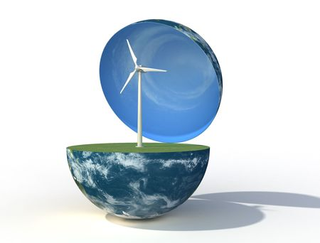 concept of alternative energi - rendering Stock Photo - 6261174
