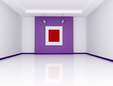 white and purple art gallery - rendering Stock Photo - 6448366