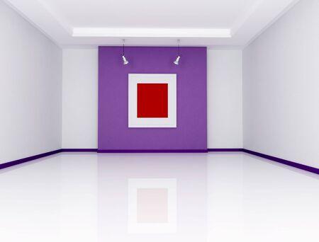 white and purple art gallery - rendering Stock Photo - 6448366
