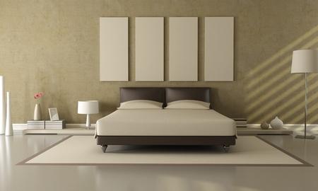 chambre � � coucher: �l�gantes chambres modernes de brun et de beige